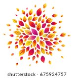 purple autumn leaves vector... | Shutterstock .eps vector #675924757