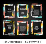 bright frames for design... | Shutterstock .eps vector #675999457