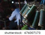 bamboo cylinder | Shutterstock . vector #676007173