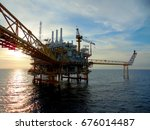 an offshore oil and gas... | Shutterstock . vector #676014487