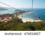 people doing zip line in... | Shutterstock . vector #676016827