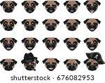 vector illustration  set of... | Shutterstock .eps vector #676082953