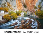 small village blagaj on buna... | Shutterstock . vector #676084813