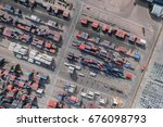 container cargo ship  import... | Shutterstock . vector #676098793