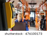 ticket validator on a public... | Shutterstock . vector #676100173
