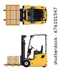 the plan view three wheeled... | Shutterstock .eps vector #676101547