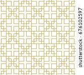 linear rectangular ornament in... | Shutterstock .eps vector #676102597