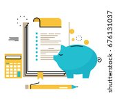 financial consulting  finance... | Shutterstock .eps vector #676131037