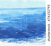 watercolor sea background. hand ... | Shutterstock . vector #676152793