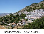 mijas  andalucia spain   july 3 ... | Shutterstock . vector #676156843