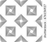 monochrome squares on white...   Shutterstock .eps vector #676156927