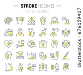 set vector line icons  sign and ... | Shutterstock .eps vector #676159417