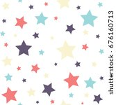 seamless colorful star vector... | Shutterstock .eps vector #676160713