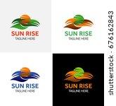 sun rise logo template | Shutterstock .eps vector #676162843