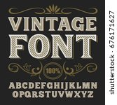 vector vintage label font.   Shutterstock .eps vector #676171627