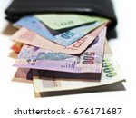 pack of thai money baht in... | Shutterstock . vector #676171687