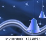 christmas bells illustrated on... | Shutterstock . vector #67618984