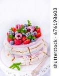 Pavlova With Berry Fruits