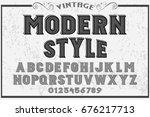 font.alphabet.script.typeface...   Shutterstock .eps vector #676217713