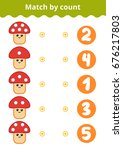 counting game for preschool... | Shutterstock .eps vector #676217803