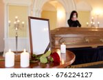 people and mourning concept  ...   Shutterstock . vector #676224127