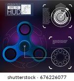 spinner infographic hud... | Shutterstock .eps vector #676226077