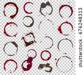 grunge coffee stains. ink  wine ... | Shutterstock .eps vector #676248313