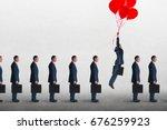 entrepreneurial business... | Shutterstock . vector #676259923