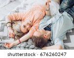 beautiful young couple in love | Shutterstock . vector #676260247