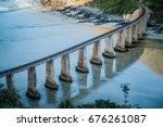 railway bridge over... | Shutterstock . vector #676261087