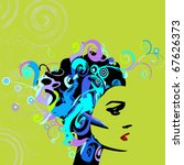 woman image in grunge style | Shutterstock .eps vector #67626373
