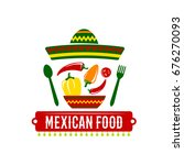 mexican food icon for... | Shutterstock .eps vector #676270093