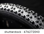 modern race mountain bike tyre... | Shutterstock . vector #676272043