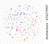 colorful confetti falling on... | Shutterstock .eps vector #676275907