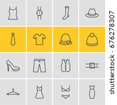 vector illustration of 16... | Shutterstock .eps vector #676278307