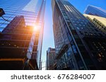 toronto downtown buildings at... | Shutterstock . vector #676284007
