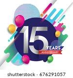 15 years anniversary logo with...