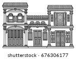 old town   Shutterstock .eps vector #676306177