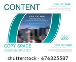 presentation layout design... | Shutterstock .eps vector #676325587