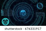abstract technology concept... | Shutterstock . vector #676331917