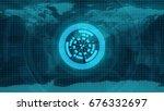 abstract technology concept... | Shutterstock . vector #676332697