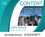 presentation layout design... | Shutterstock .eps vector #676335877