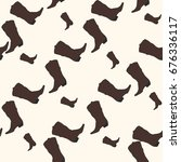 seamless pattern with cowboy... | Shutterstock .eps vector #676336117