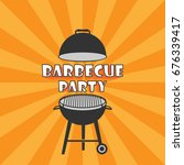 barbecue icon vector   barbecue ... | Shutterstock .eps vector #676339417