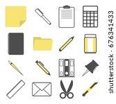 stationary accessory vector... | Shutterstock .eps vector #676341433