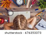 back to school and happy time ... | Shutterstock . vector #676353373