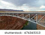 bridge over the arizona river | Shutterstock . vector #676365313