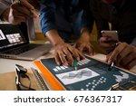 team businessman meeting... | Shutterstock . vector #676367317