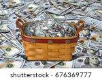 basket full of cash.   Shutterstock . vector #676369777