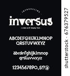 vector font on black background.... | Shutterstock .eps vector #676379527